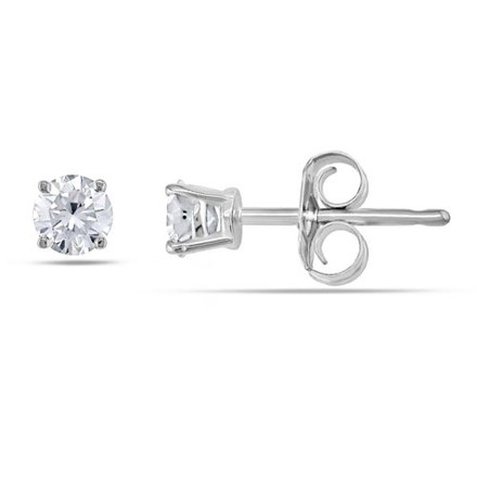 Other 14k Yellow Gold Diamond Solitaire Stud Earrings 0.3 Cttw G-h Si2-si3