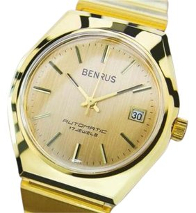 Swiss Made Benrus Luxury Automatic Gold Plated Watch For Men Circa 1960s Siw088