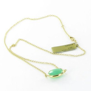 Syna Paris Neckace Chrysoprase Cobblestone 16 Chain 18k Yellow Gold