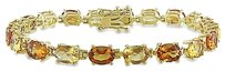 Other Yellow Sterling Silver 14 Ct Tgw Madeira Citrine Citrine Bracelet 7.25