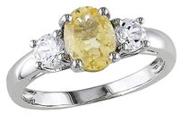 Other 1 45 Ct Tgw Citrine White Sapphire 3-stonefashion Ring In Sterling Silver