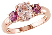 Other 1.55 Ct Tgw Morganite Pink Tourmaline 3-stone Fashion Ring Pink Silver