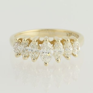Other Tiered Diamond Ring - 14k Yellow Gold Marquise Cut 1.14ctw