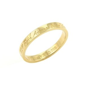 Other Tiffany Co. 18k Yellow Gold Notes Band Ring -