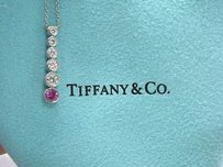Tiffany Co Jazz Graduated Diamond Sapphire Pendat
