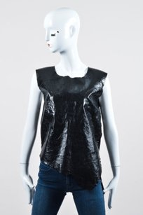 Bno Leather Knit Top Black