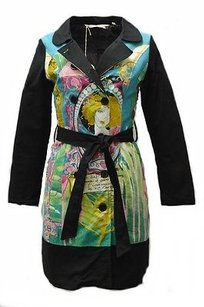 Other Savage Culture Sea Multi Color Solid Print Trench 220019lm Trench Coat