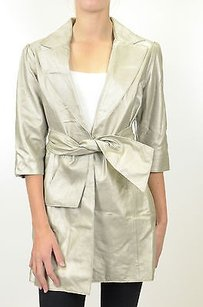 Janet Metallic Soft Trench Coat