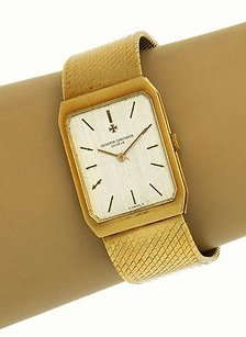 Vacheron Constantin Vintage 18k Yellow Gold Position Jewels Mens Watch