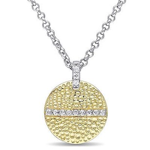 Other Versace 19.69 Abbigliamento Sportivo 18k Gold Covered Silver Moonlight Necklace