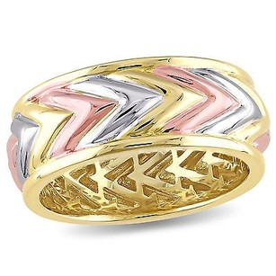 Other Versace 19.69 Abbigliamento Sportivo 18k Tri-color Plated Silver Ring