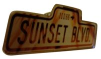 Vintage 1992 Sunset Blvd 10086 Street Sign Lapel/Hat Pin