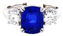 Other Vintage Kashmir Sapphire VS Diamonds Platinum Ring