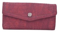 Relic By Fossil Red Faux Croc Wallet