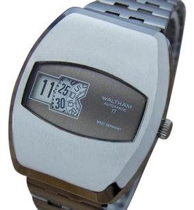 Other Waltham 1960s Mens Mechanical Digital Automatic Stainless Steel Watch La88