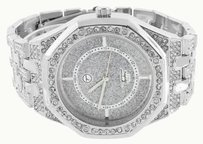 Other White Simulated Diamond Watch Fully Iced Out Octagon Bezel Ap-02 Jojino Techno