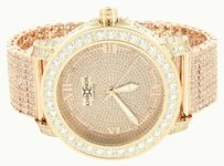 Diamond Khronos Watch Mens Rose Gold Finish Stainless Steel Jojo Look