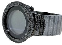 Black Digital Watch Techno Art Joe Rodeo Jojo Jojino Simulated Diamond