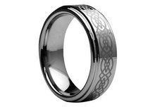 Amz Tungsten Carbide Laser Engraved Celtic Knot Pattern 7mm Wedding Band Cjtu113