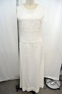 Amazing Vintage Chanel Linen Wedding Dressgown Linen Trim 34us. Altered