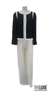 Weill Paris Impeccable Navy White Chic Pant Suit Jacket Really Gorgeous