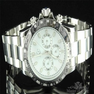 White Diamond Watch Mens Designer 316 Stainless Steel Kc Joe Rodeo Aqua Master