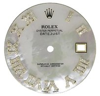 White Mop Roman Diamond Dial For Rolex Datejust Ii 41mm Quick-set Watch 0.75 Ct