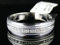 14k Mens White Gold Diamond Wedding Band Ring 14 Ct