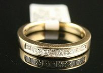 12 Ct 14k Ladies Princess Diamond Wedding Band Ring
