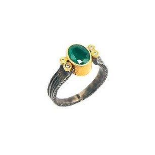 Womens Vintage Ring Appx 0.08 Ct Diamonds J Si1 Appx Ct Emerald 5.4 Grams