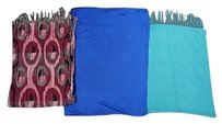 Boutique Lot Of Pink Green Blue Cotton Blend Casual Knit Scarves Sma7526