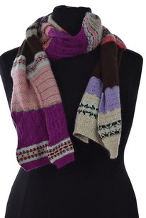 Drakes Womens Beige Scarf Os Textured Wool Casual
