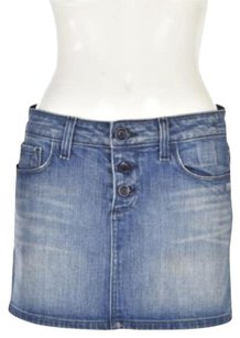 Paige Denim Mini Mini Mini Skirt Blue