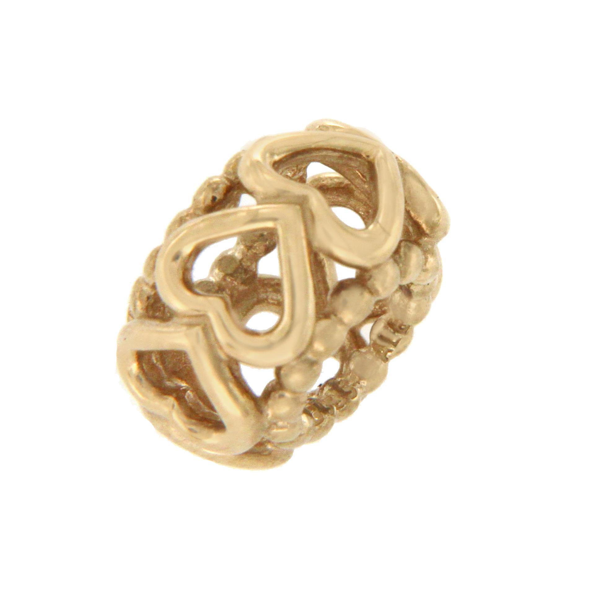 008bde24a ... release date pandora authentic pandora 14k gold lucky in love heart  spacer bead charm f837b 40578