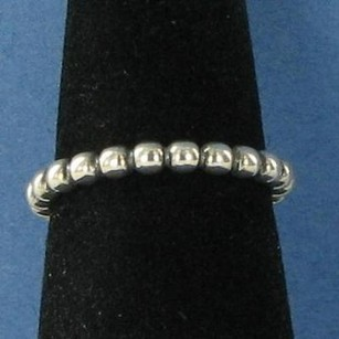 PANDORA Pandora 190381 Cloud Nine Ring Beaded Band Sterling Silver