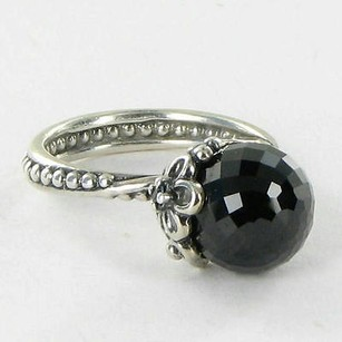 PANDORA Pandora 190848spb Ring Garden Odyssey Black Spinel 925 6.75 Retired