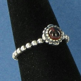 PANDORA Pandora 190854ga January Garnet Birthstone Ring Sterling Silver 6.75