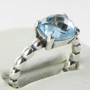 PANDORA Pandora 190869btp Ring Cool Breeze Blue Topaz Sterling Silver 54.4