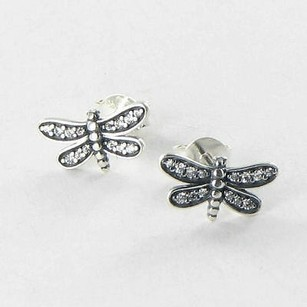 PANDORA Pandora 290574cz Earrings Dragonfly Cubic Zirconia Sterling Silver