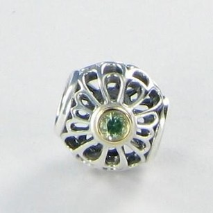 PANDORA Pandora 791173ssg Charm Bead Vintage Allure Synthetic Green Spinel 925