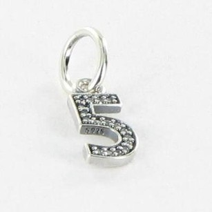PANDORA Pandora 791343cz Charm Dangle Number Sterling Silver Cubic Zirconia