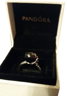 PANDORA Pandora Garden of Odyssey Black onyx retired ring size 6.5
