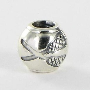 PANDORA Pandora 791271 Charm Bead Lacrosse Crossed Sticks Sterling Silver