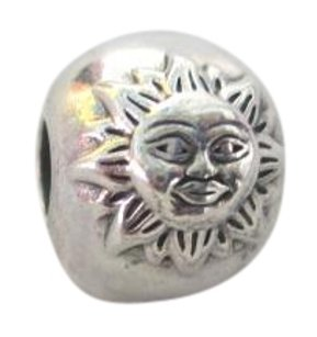 PANDORA PANDORA Night & Day 925 Silver CLIP CHARM BEAD 791208CZ Sun & Moon