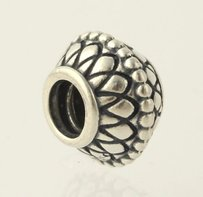 PANDORA Pandora Ornate Bead - Sterling Silver Ale 925 Charm Round Collectors Accent