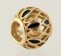 PANDORA Pandora Royal Victorian Black Enamel Charm - 14k Yellow Gold 750814en16