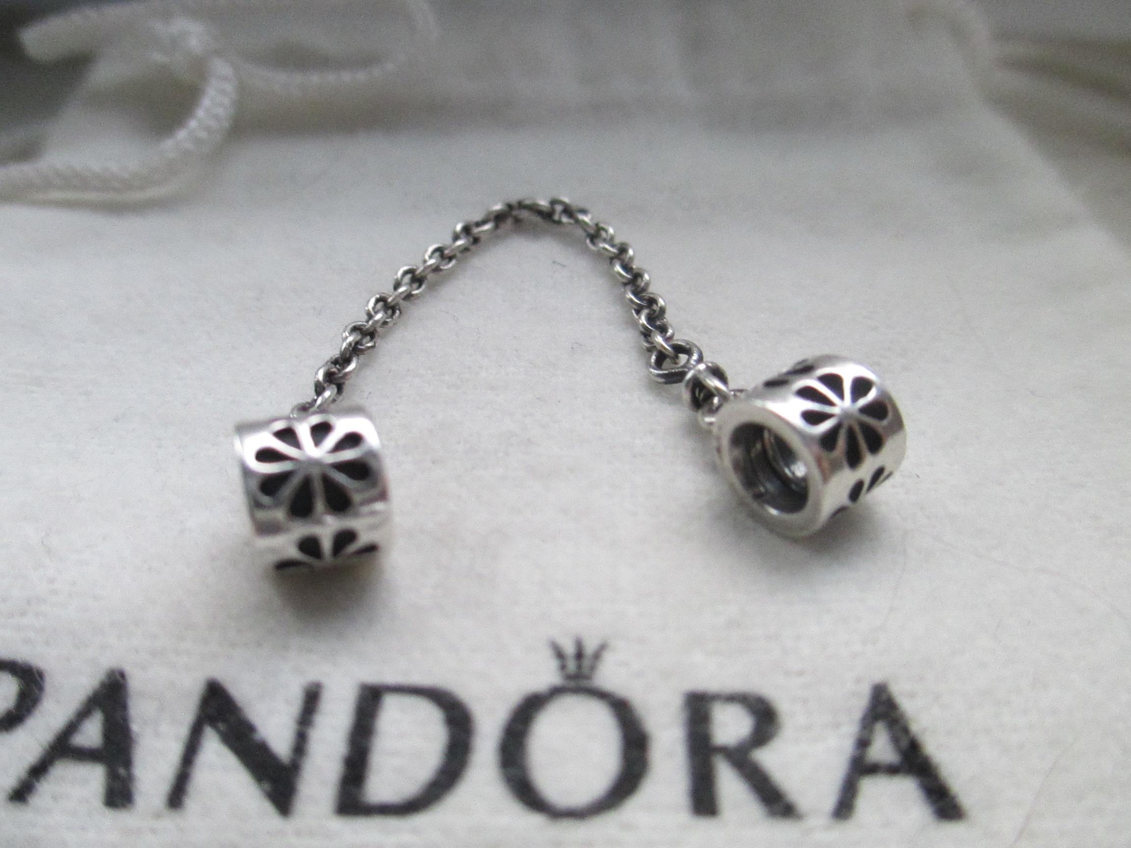 171c35e80 ... australia pandora authentic pandora sterling silver daisy flower safety  chain charm 790385 68aa7 ce8bd ...