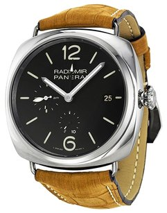 Panerai PANERAI Radiomir 10 Days GMT Black Dial Brown Leather Strap Men's Watch PAM00323