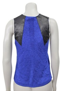 Parker Jeri Silk Leather Top Marine
