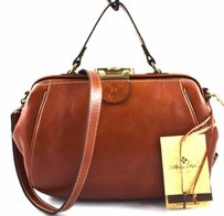 Patricia Nash Designs Leather Gpacchi Satchel in Brown